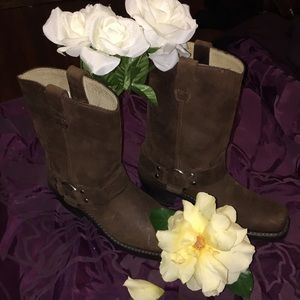 Worn once medium brown Durango mid calf boots